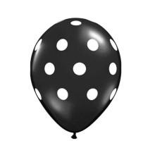 """Ø 30 см шар """"Горох чёрный на белом"""""""