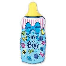 Фольгированная фигура ''Бутылка мальчик''