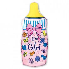 Фольгированная фигура ''Бутылка девочка''