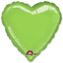 Сердце Металлик LimeGreen