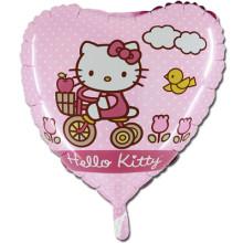 Сердце ''Hello kitty на велосипеде''