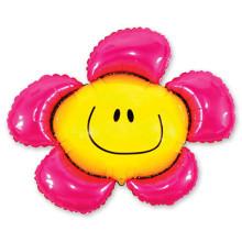 Фольгированная фигура ''Цветок розовый''