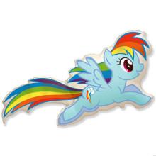 Фольгированная фигура ''Пони радуга''