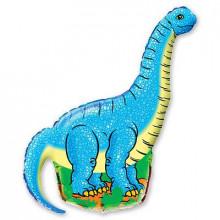 Фольгированная фигура ''Динозавр голубой''