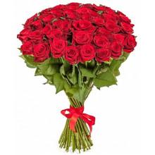 51 красная роза ↑ = 80 см