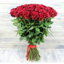 51 красная роза ↑ = 70 см