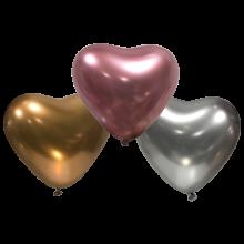 Ø 30 см шар сердце хром